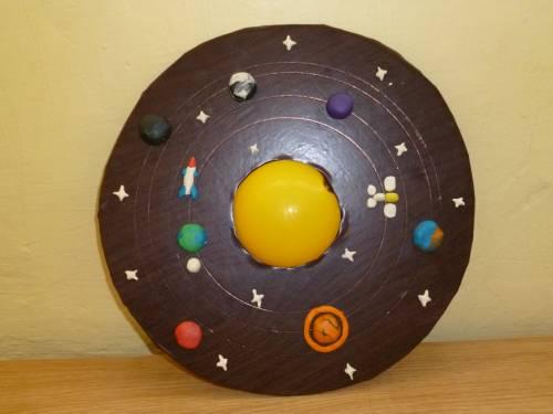 Поделки диски космос