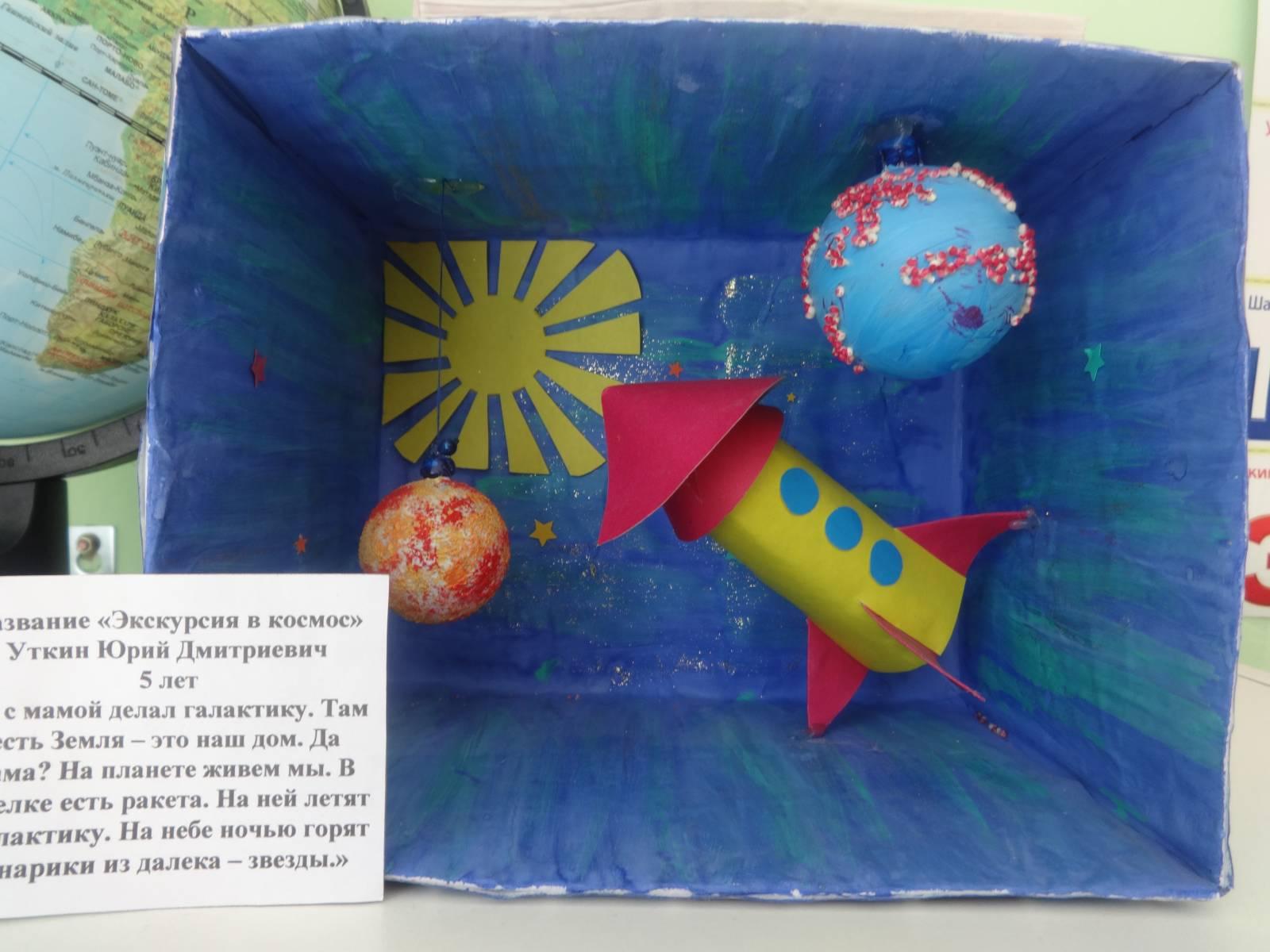 Поделки в сад на тему космос 72