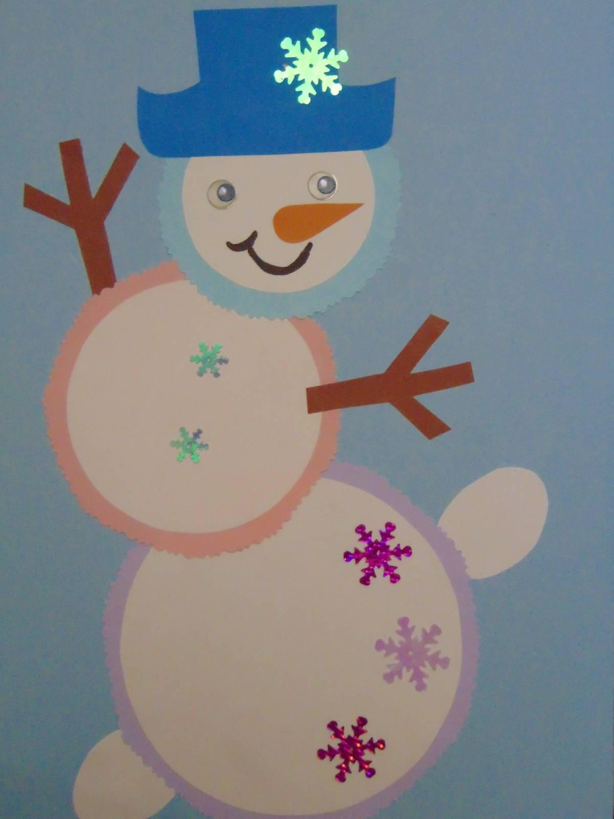 Весёлый снеговик поделка 24