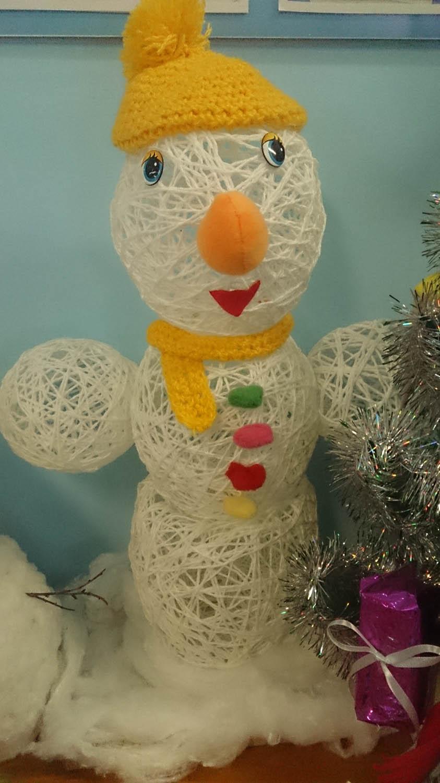 Весёлый снеговик поделка 20