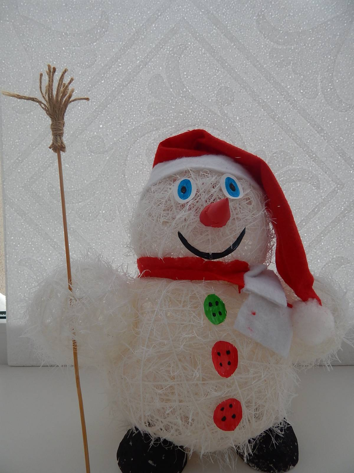 Весёлый снеговик поделка 46