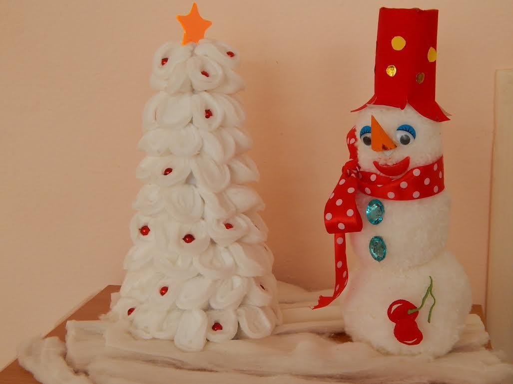 Весёлый снеговик поделка 35