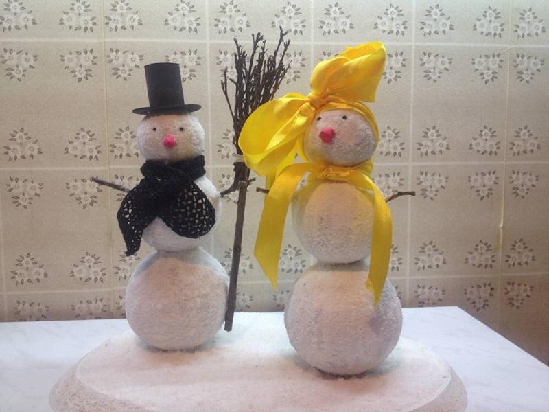 Весёлый снеговик поделка 28