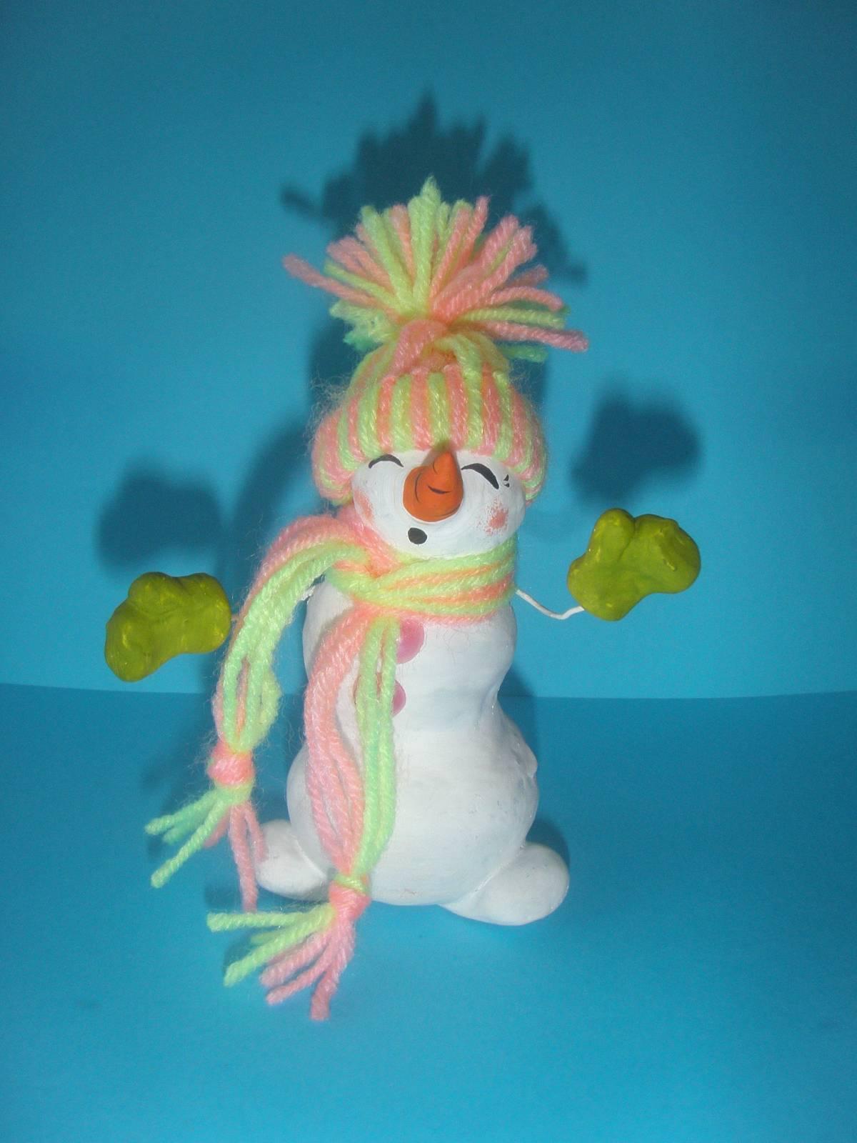 Весёлый снеговик поделка 25