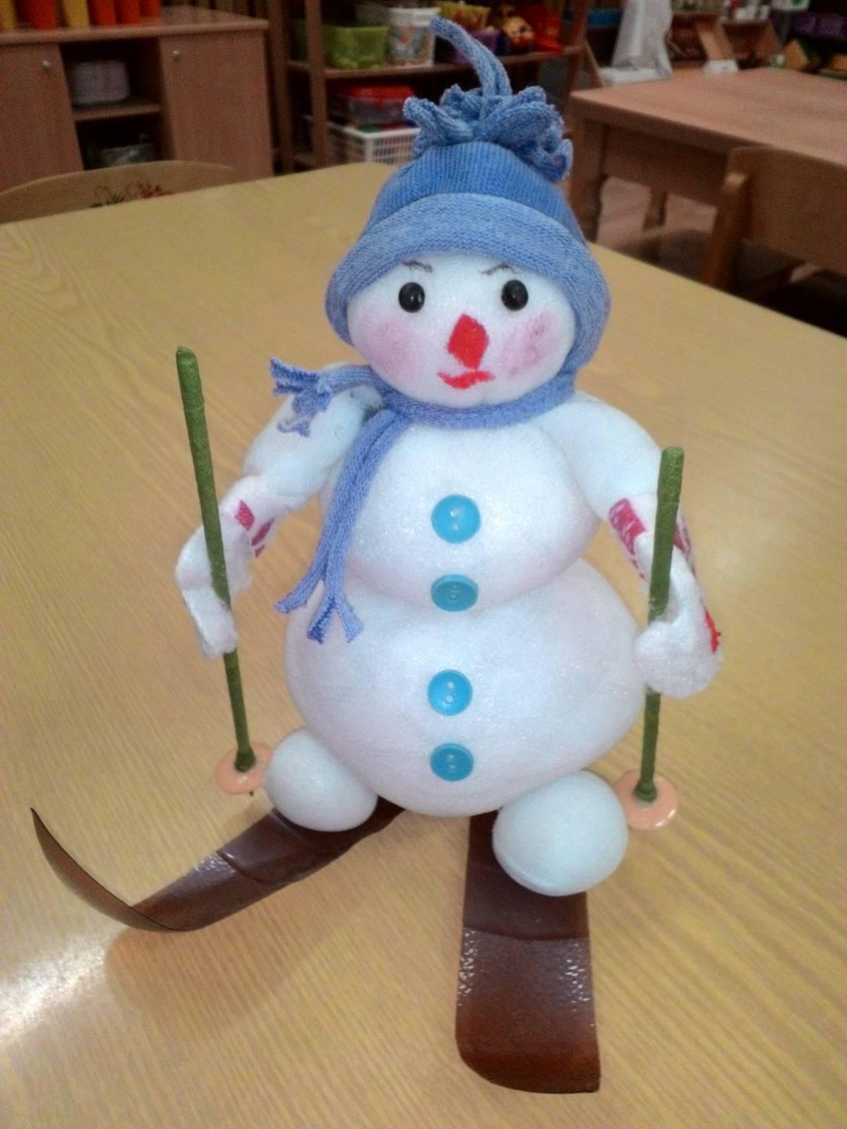 Весёлый снеговик поделка 55