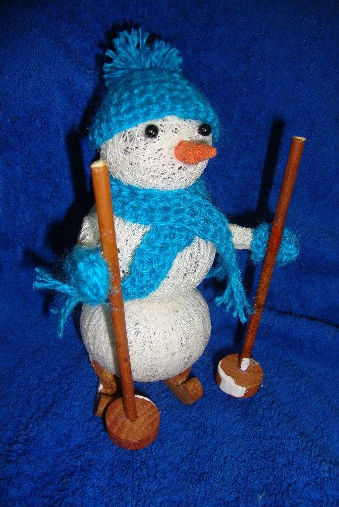 Весёлый снеговик поделка 59
