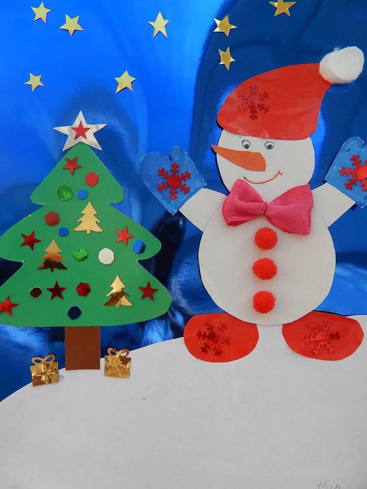 Весёлый снеговик поделка 49