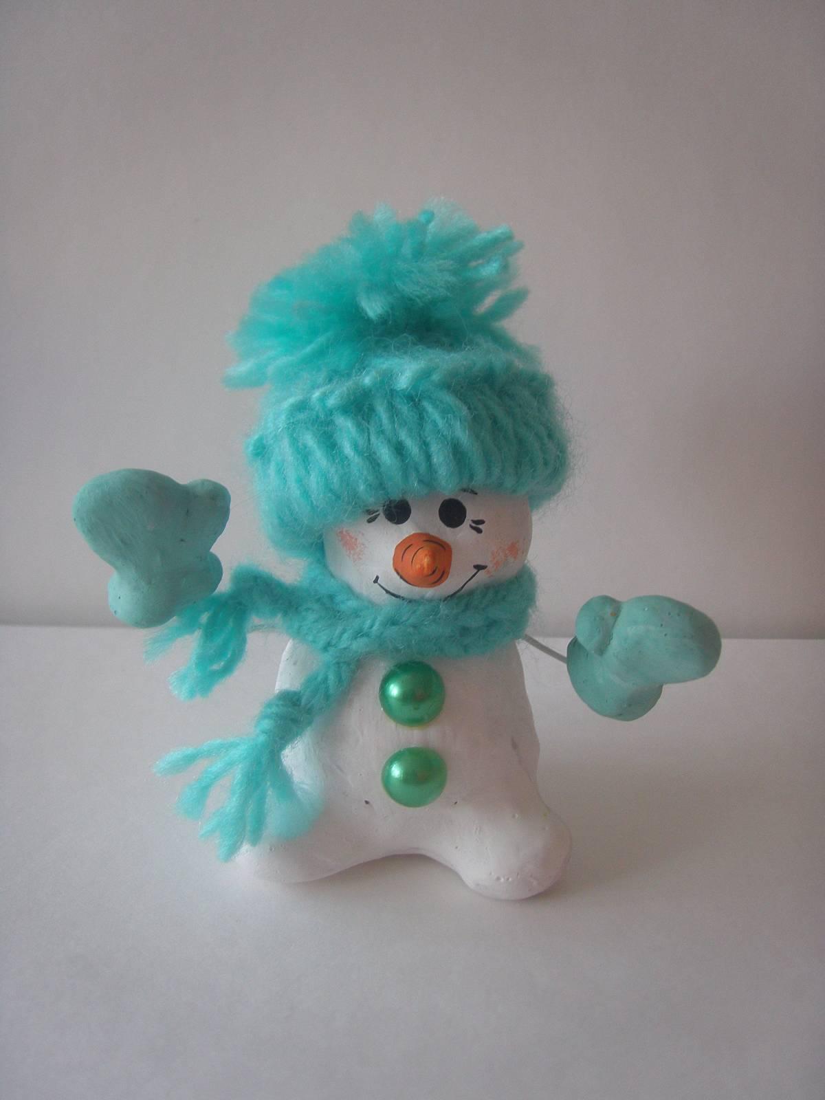 Весёлый снеговик поделка 70