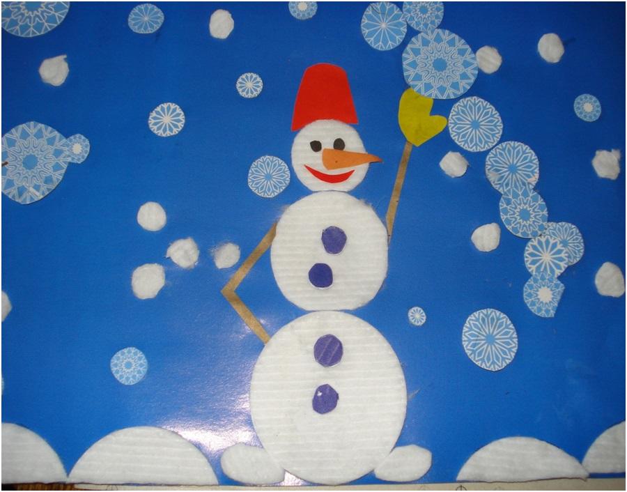 Новогодние поделки своими руками для детского сада из ваты