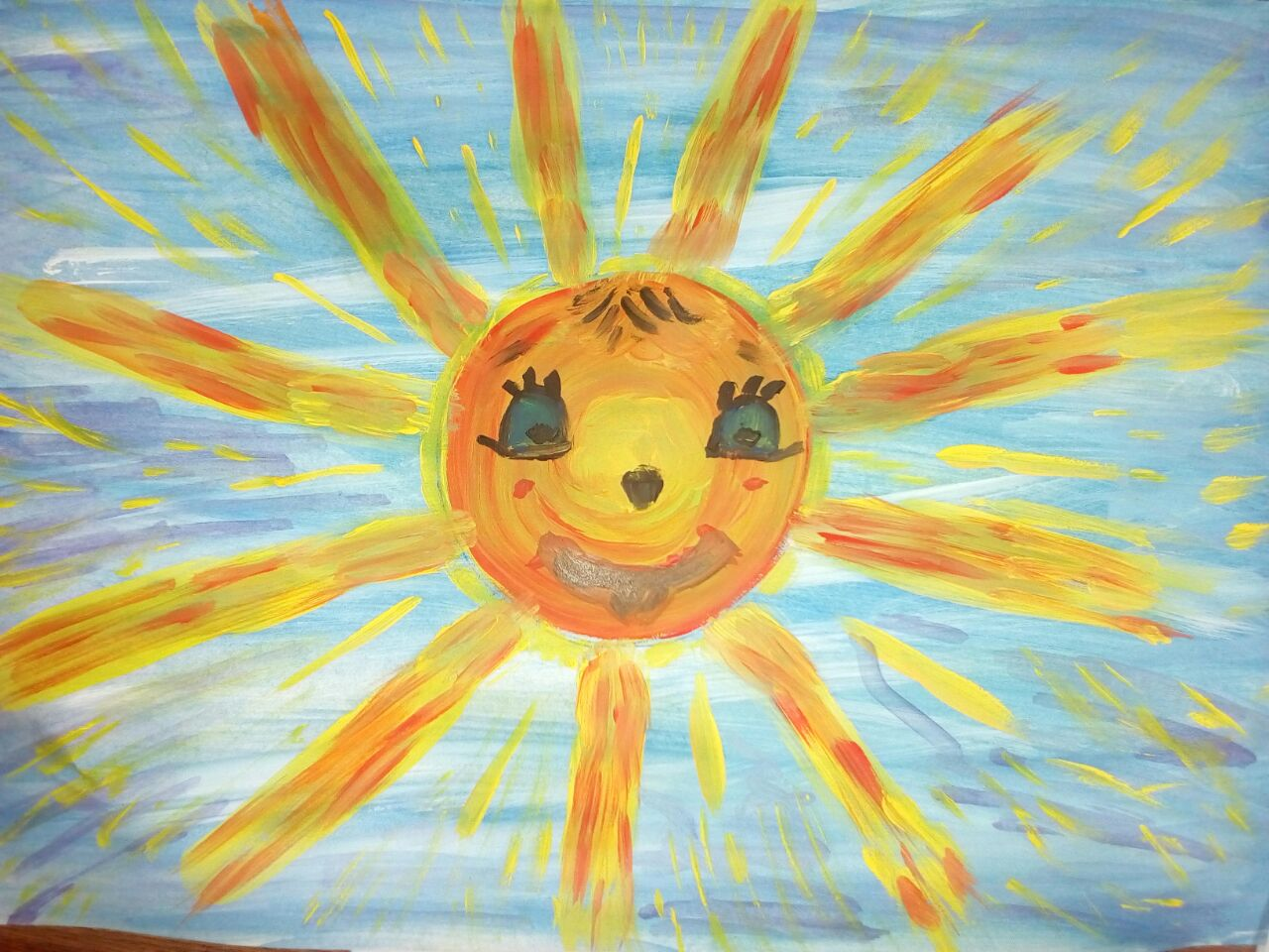 Солнышко рисуют дети картинки