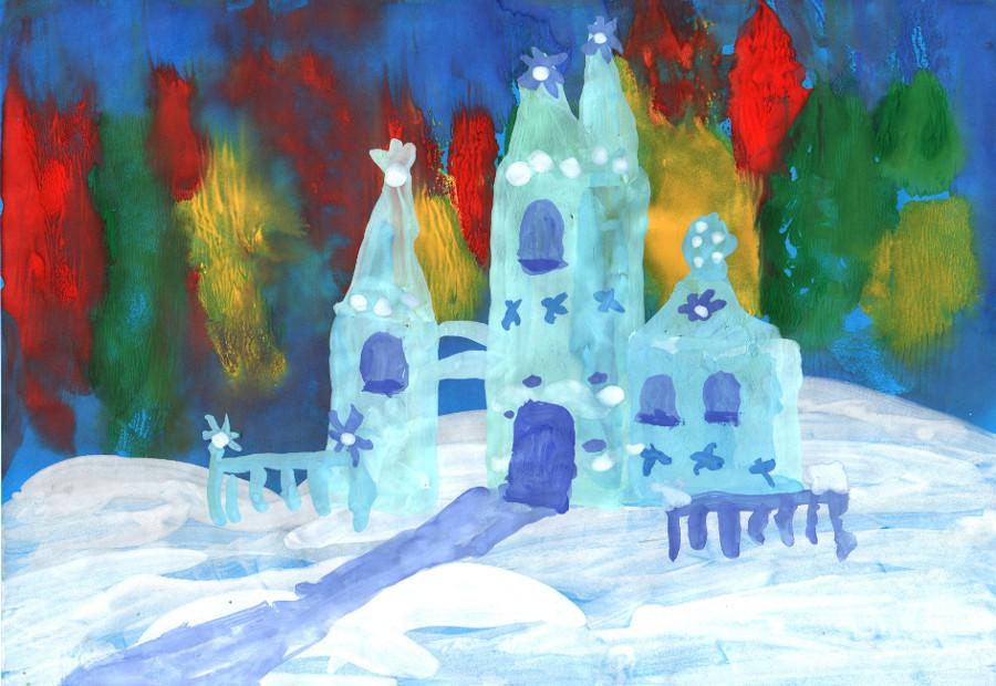 Картинка для детей замок снежной королевы